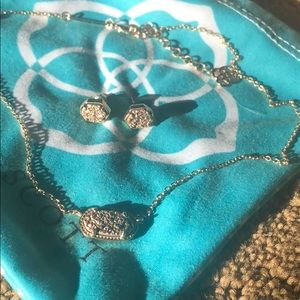Kendra Scott necklace with matching earrings